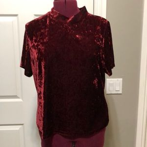 Crushed red velvet top in size 3X by Forever 21